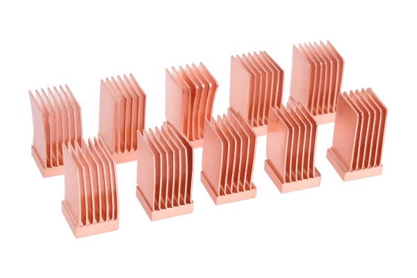 Alphacool GPU RAM Copper Heatsinks 6,5x6,5mm - 10 Stk.