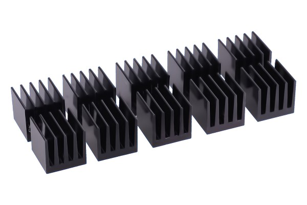 Alphacool GPU RAM Aluminium Heatsinks 15x15mm - black 10 Stk.