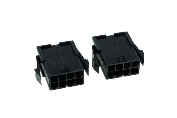 Phobya VGA Power Connector 8Pin Buchse inkl. 8 Pins - 2 Stück Black